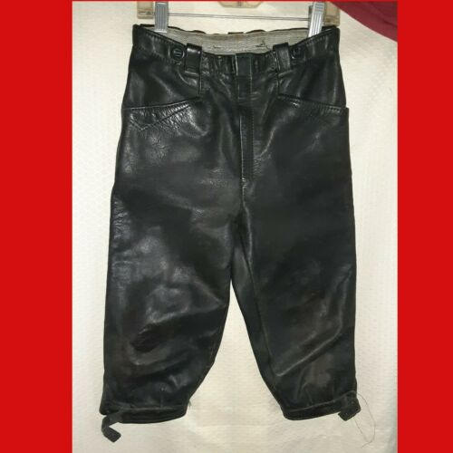 TRACHTEN OKTOBERFEST Boys Long Lederhosen DURABLE COWHIDE Buckled Ankles 6