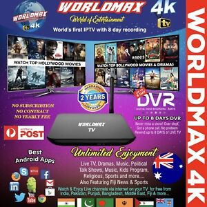 WORLDMAX 4K INDIAN ARABIC IPTV BOX HINDI PUNJABI BENGLA FIJI LIFETIME Hallam Casey Area Preview