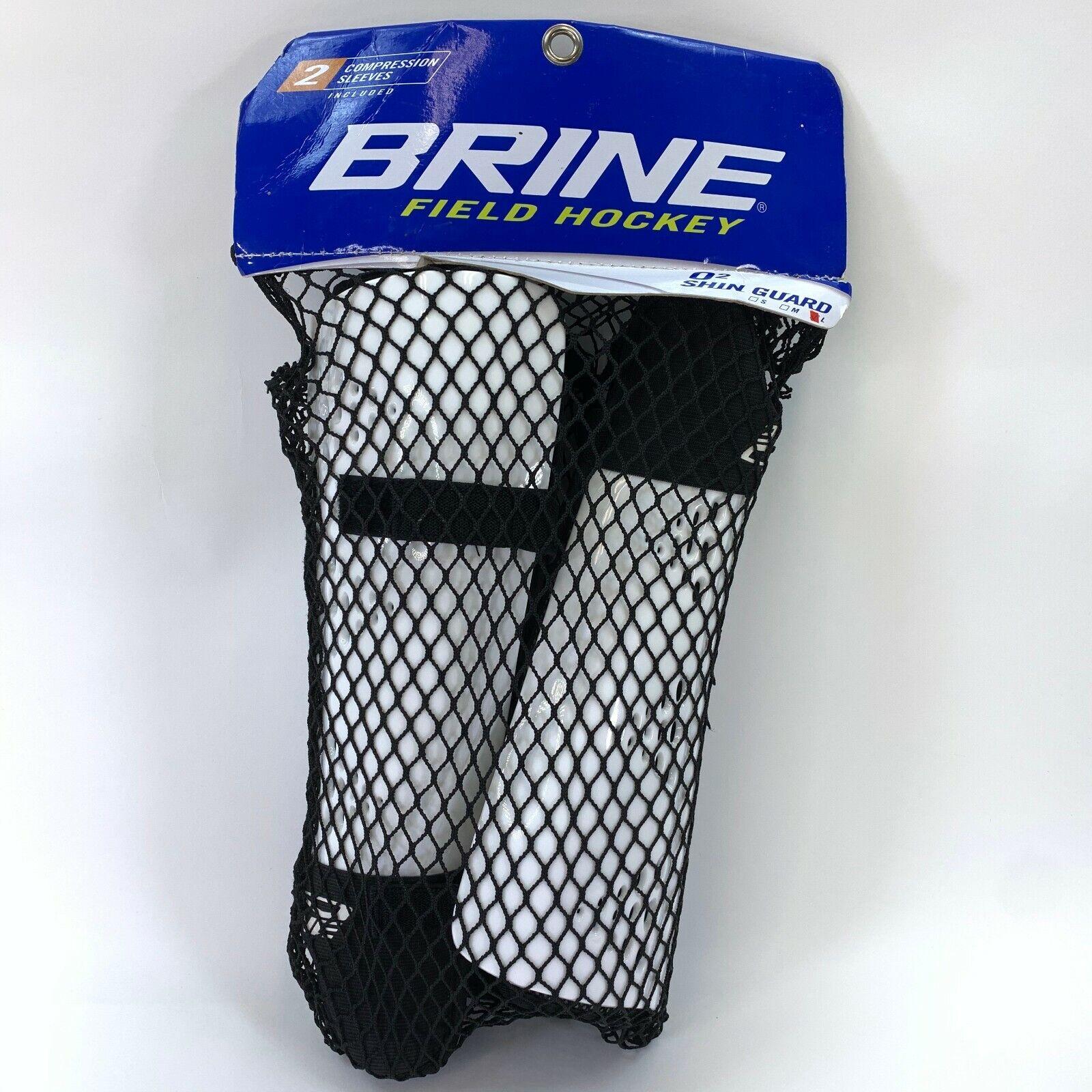 Brine Lacrosse O2 Shin Guards Roll Down Field Hockey With Ne