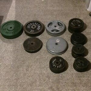 Steel weights and bars $450