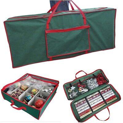 Christmas Ornaments Tree Wrapping Paper Storage Bag Box Xmas Tidy Organiser Sack ()
