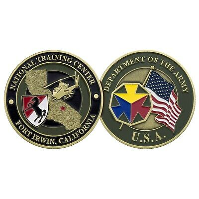 "ARMY FORT IRWIN NATIONAL TRAINING CENTER 1.75"" CHALLENGE COIN"
