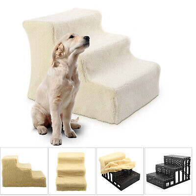 Large 3 Steps Dog Pet Stairs Indoor Ramp Portable Folding Animal Cat Ladder