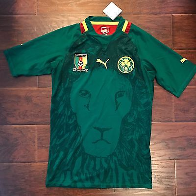 2011/13 Cameroon Home Jersey XL Player Issue fitted Puma Soccer Football NEW image