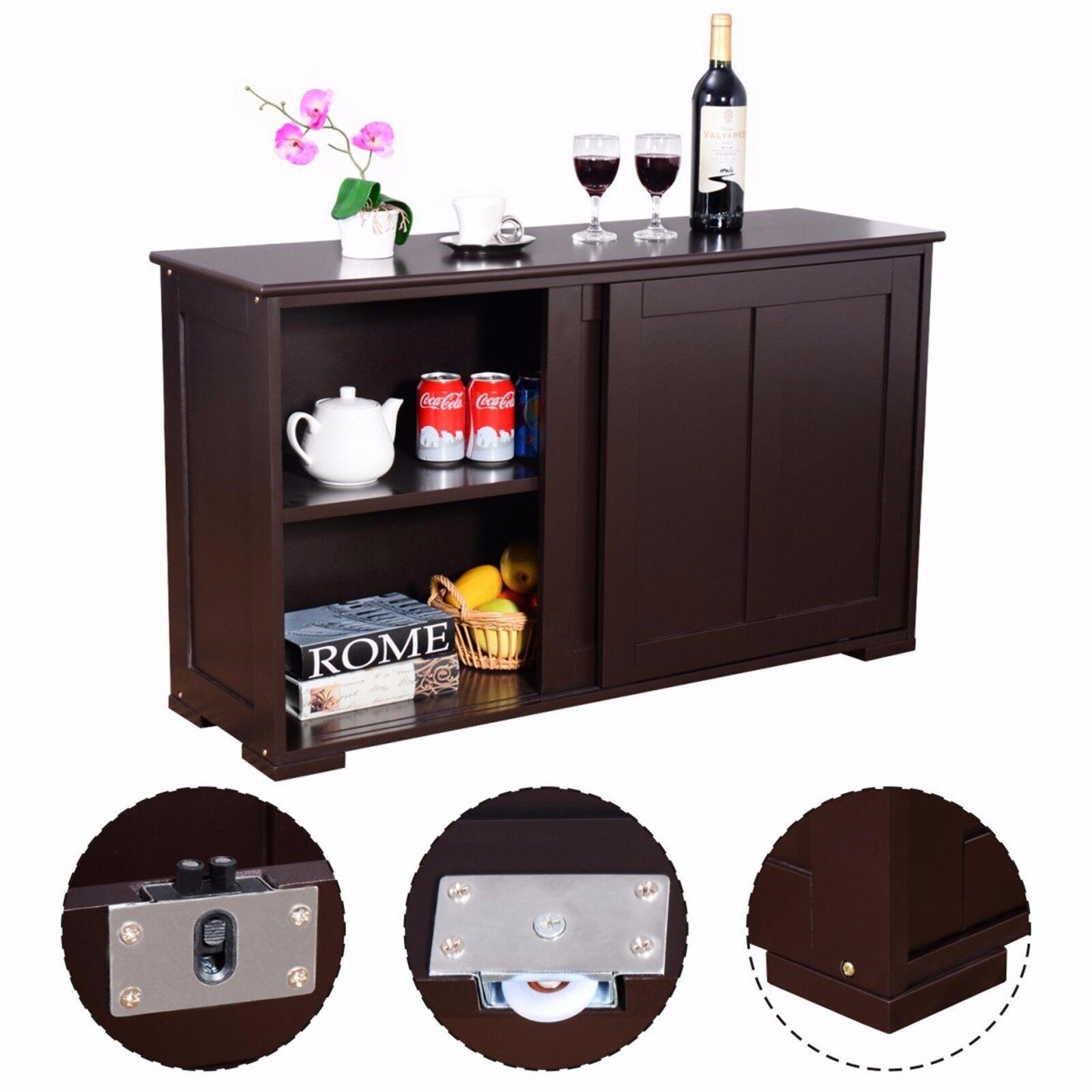 Kitchen Island Server Storage Cabinet Wood Cupboard ...