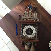 VINTAGE 1950s WALNUT FINISH GERMAN PENDULUM CLOCK Nerang Gold Coast West Preview