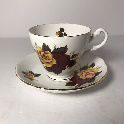 Cups Saucers Red Yellow Vatican