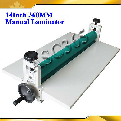 New 14 360mm Manual Vinyl Film Mounting Laminating Machine Cold Laminator