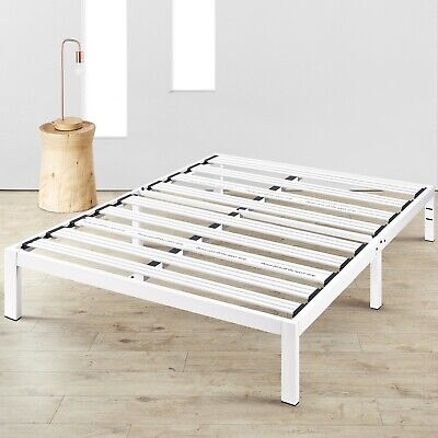 14'' Metal Platform Bed Steel Slat Support Underbed Storage Queen Twin Dorm