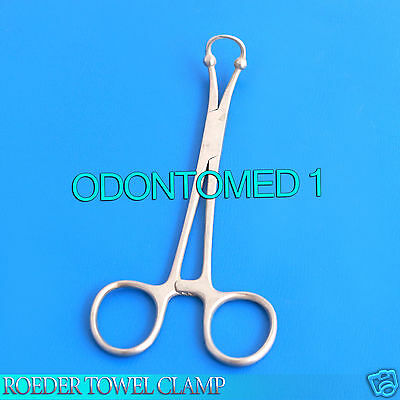 Roeder Towel Clamp 6 Surgical Dental Instruments