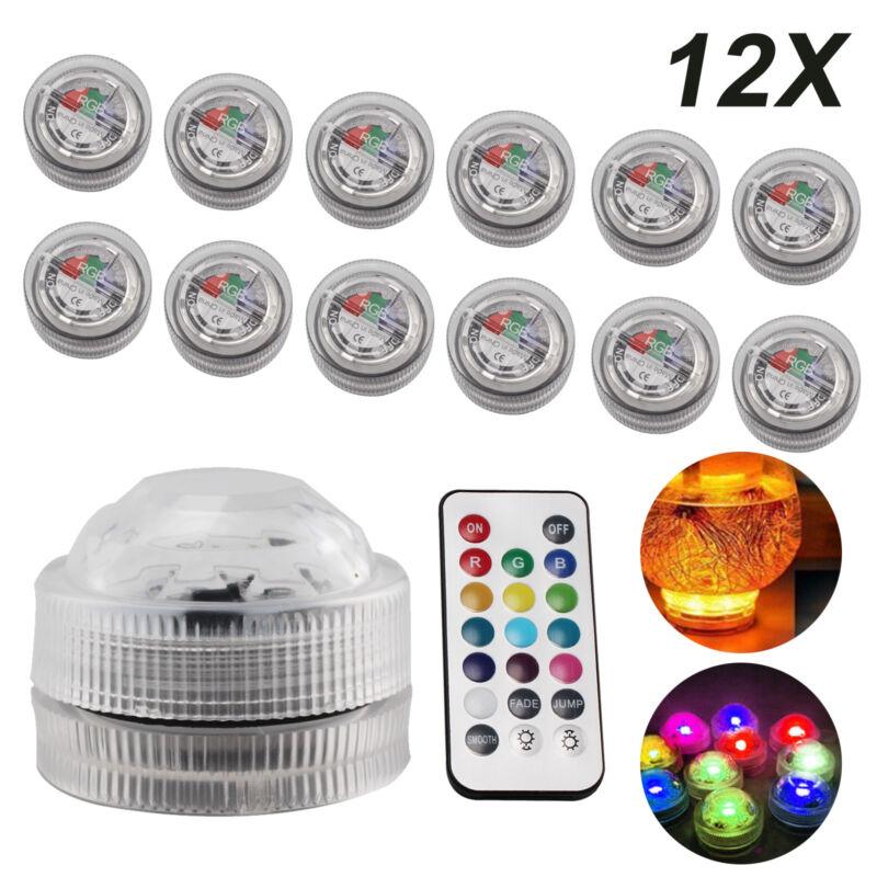10 X LED Unterwasserlicht Teichbeleuchtung mit Multi Color RGB und Fernbedienung