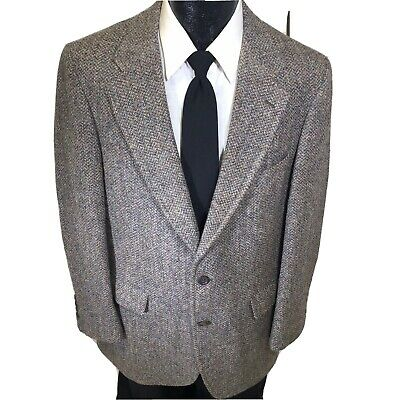 Nordstrom HARRIS TWEED Men Gray Sport Coat SPORTSMAN'S Jacket Wool Blazer 42 R