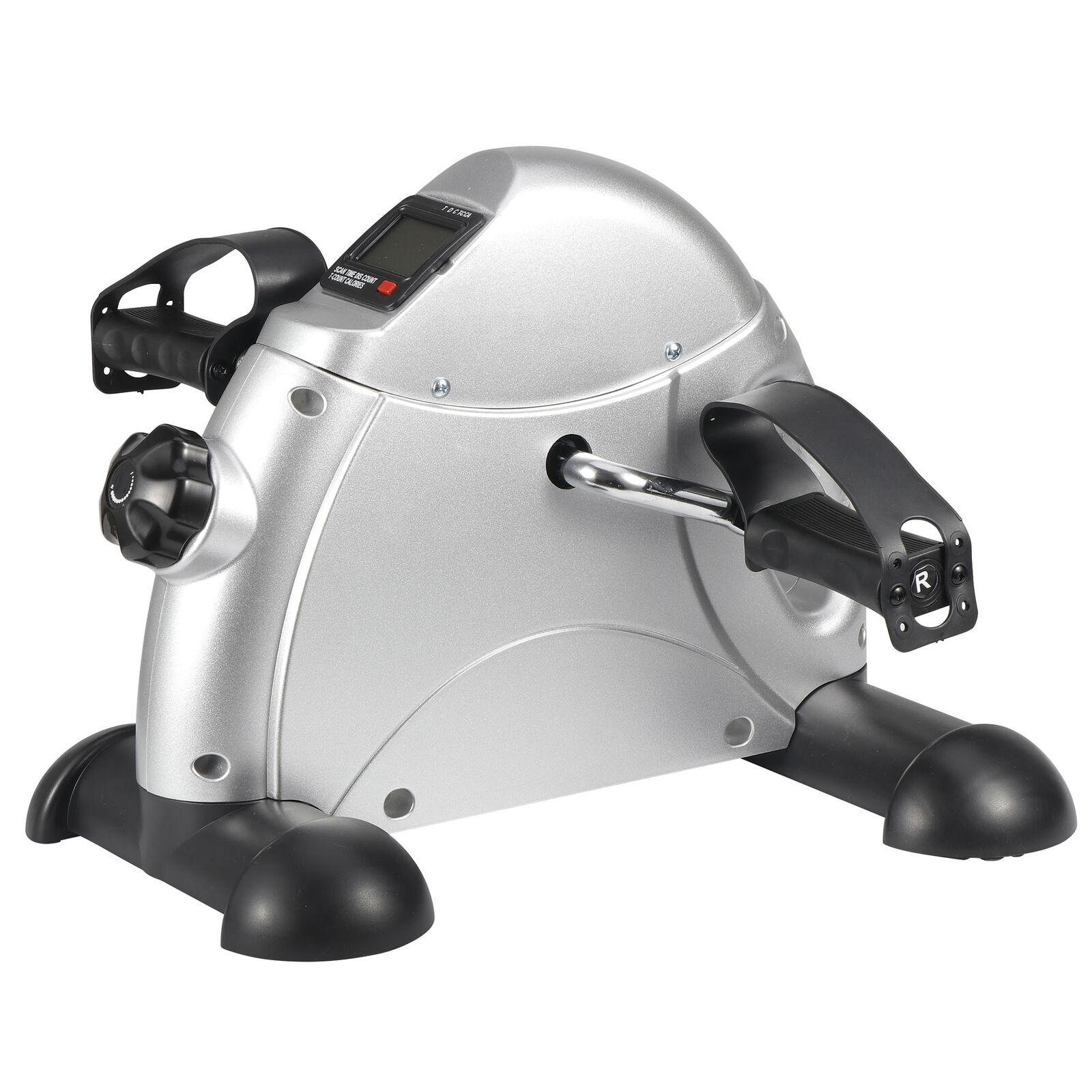 Health Fitness Bike Pedal Exerciser Under Desk Elliptical w/ 8 Levels Resistance 9