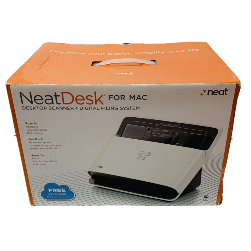 NeatDesk For Mac Desktop Scanner and Digital Filing System New Open Box