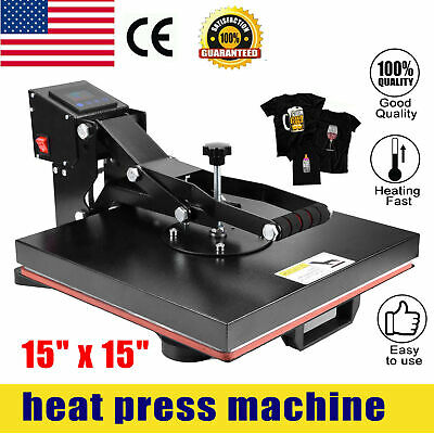 Clamshell Heat Press Machine 15 X 15 Diy T-shirt Sublimation Digital Transfer