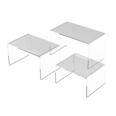 5 6 7 Set Of 3 Pack Large Clear Acrylic Risers Jewelry Display Stands