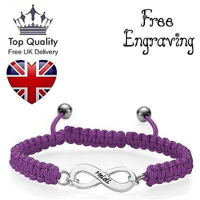 muck Infinity Shamballa Seil Armband UK (Personalisierte Infinity Armband)
