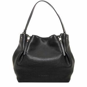 6a5162d8fba3 Burberry Maidstone Black Leather Medium Shoulder Bag Retail 150 for ...