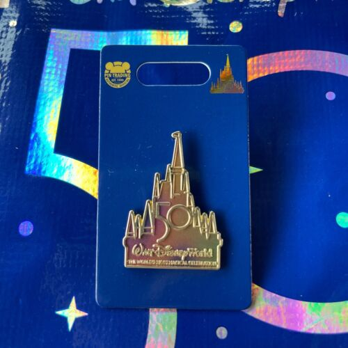 Disney Parks 50th Anniversary Disney Castle Pin - NEW