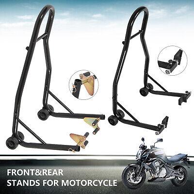 Motorcycle Rear Wheel Stand (Sport Bike Motorcycle Stand Front Rear Wheel Paddock Stand Combo Swing Arm Lift )