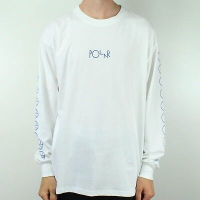Polar Racing Long Sleeve T-Shirt Tee in White in size S,M,L