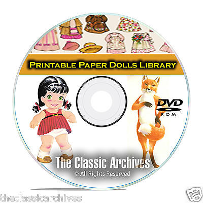 2,000 Plus Printable Paper Dolls Library, McCall Doll, Vintage Baby CD DVD B63](Doll Printables)