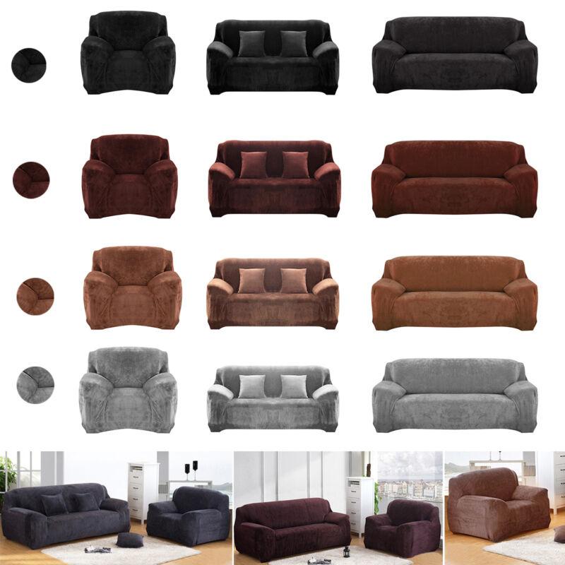 1 Sitzer Sofahusse Sofabezug Universal Stretchhusse Sofabezug Polyester Grau DE