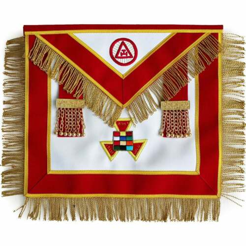 MASONIC ROYAL ARCH PAST HIGH PRIEST APRON PHP ( 100% Lambskin ) HAND EMBROIDERED