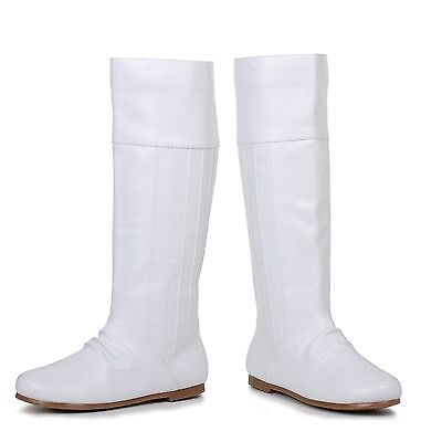 White Princess Leia Star Wars Halloween Costume Boots Womans size 6 7 8 9 10 - Costume White Boots
