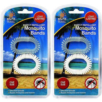 Sure Travel Anti Mosquito Bug Insect Repellent Bracelet Wrist Ankle Band 4 Pack