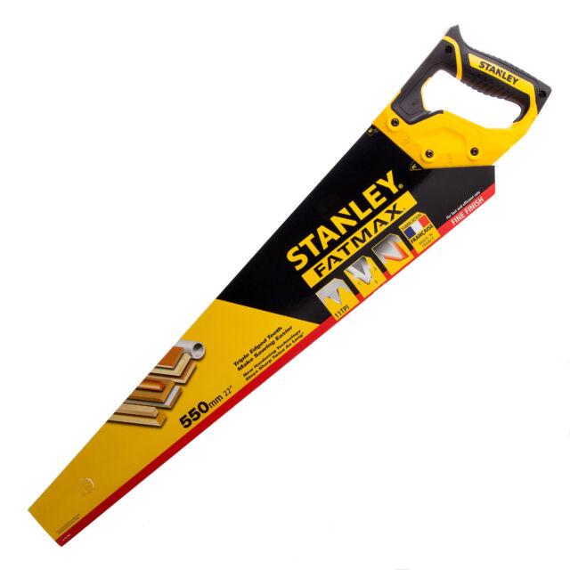 "Stanley STA515244 FatMax Fine Cut Hand Saw 22"" Precision Teeth 5-15-244 11TPI"