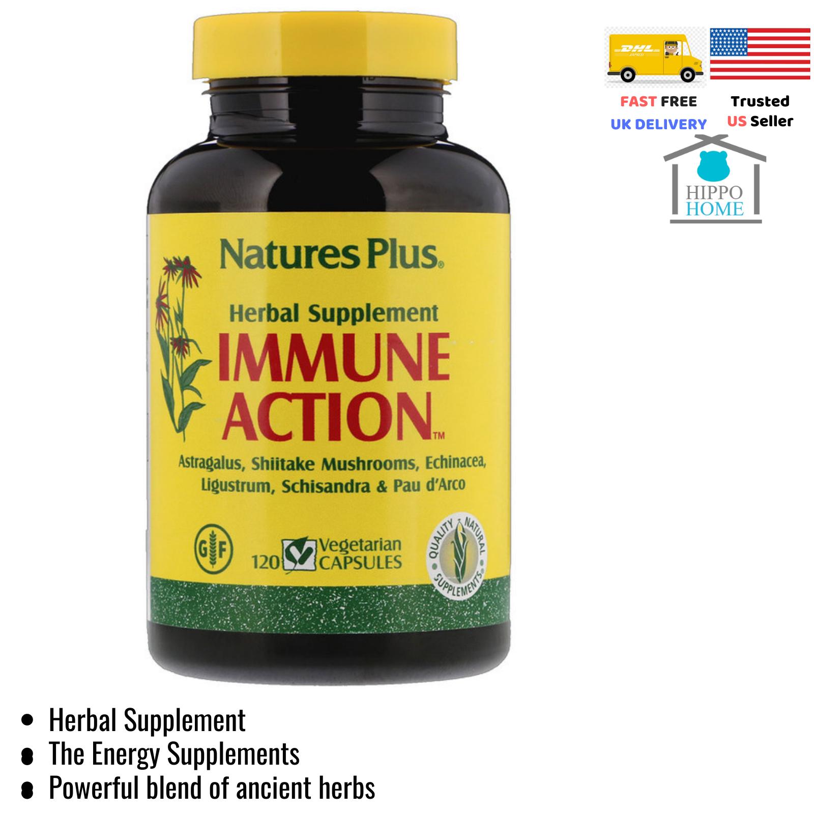 Nature's Plus Immune Action Herbal Supplement120 Vegetarian Capsules