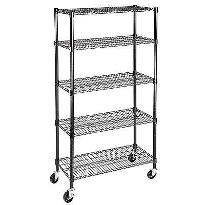 5 Tier 60x30x14 Layer Wire Shelving Rack Heavy Duty Steel Shelf Adjustable