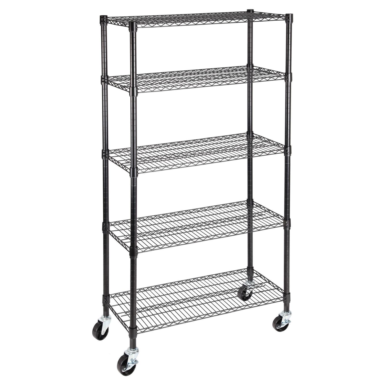 5 tier 60 u0026quot x30 u0026quot x14 u0026quot  layer wire shelving rack heavy duty steel shelf adjustable 699987704775