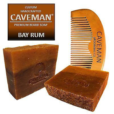 Handcrafted Caveman® Bay Rum Beard Oil Beard Wash Shampoo Custom Soap FREE Comb2