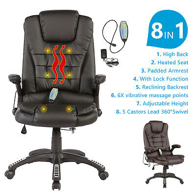 Heated Vibrating Office Massage Chair Executive Ergonomic Computer Desk Chair