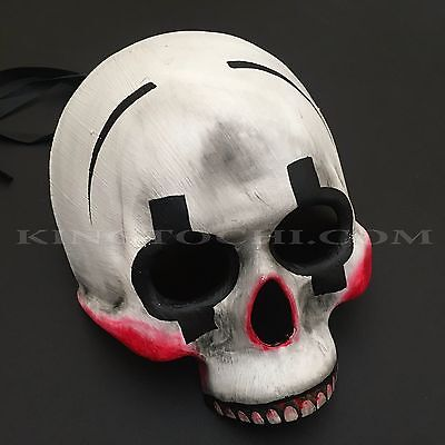 Halloween Day of the Dead Skull Half Face Masquerade Scary Mask (Half Dead Face Halloween)