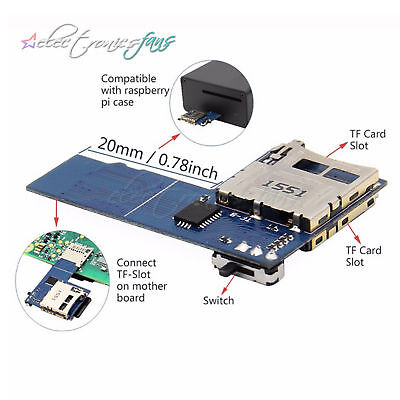 New Raspberry Pi Dual TF card Adapter Micro SD card Adapter 2 in 1