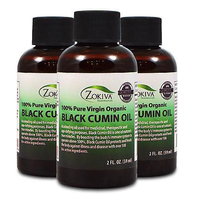 Black Cumin Seed Oil 3-Pack 100% Pure, Cold Pressed, Virgin Organic, 6 fl. oz.