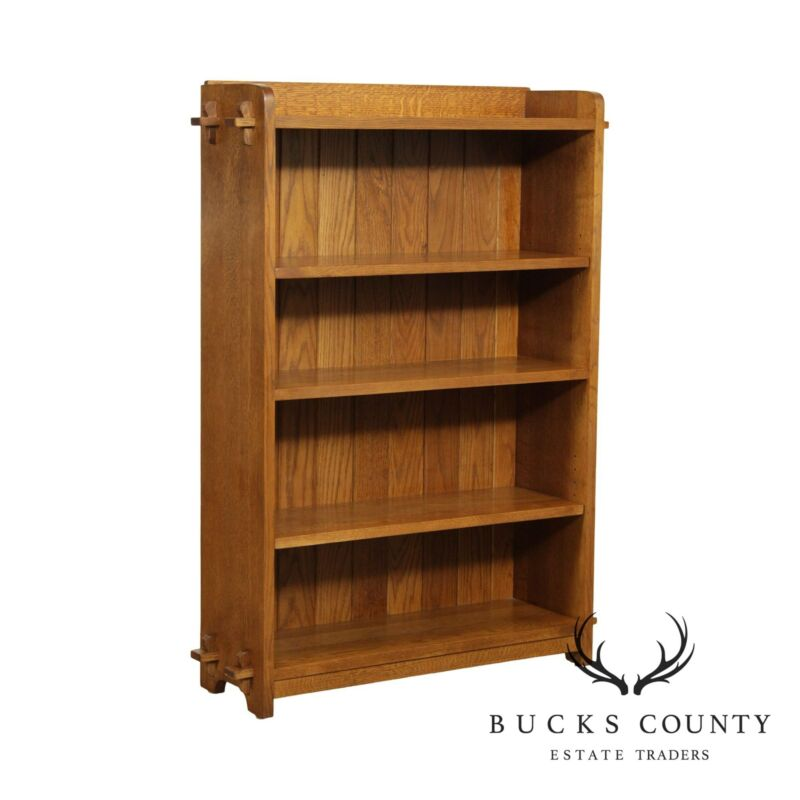 Stickley Mission Collection Oak Open Bookcase