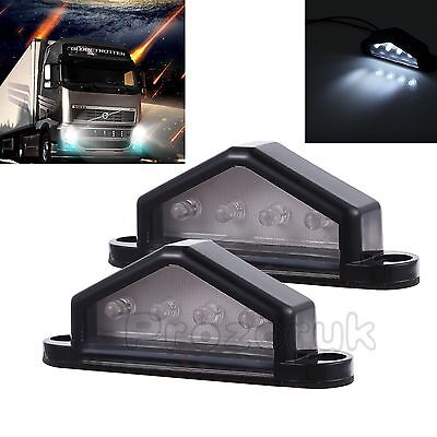2 X 4 LED REAR LICENSE NUMBER PLATE LIGHT LAMP TRUCK CARAVAN TRAILER 12/24V UK