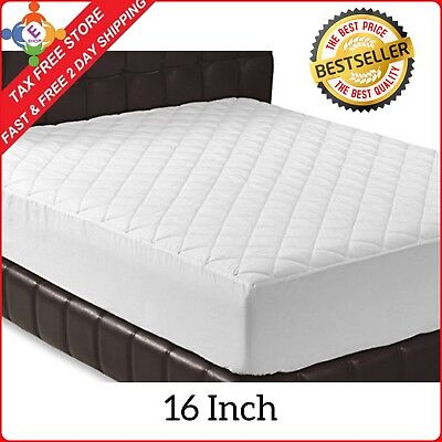 Foam Mattress Bed Pad -  16Inch Memory Foam Topper Mattress Cover Queen Size Bed Pad Matress Stretches