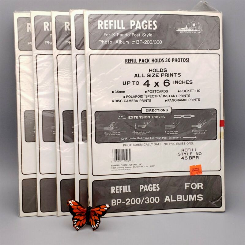 Pioneer Photo Albums BP-200/300 Refill Pages 46BPR 5-PACKS