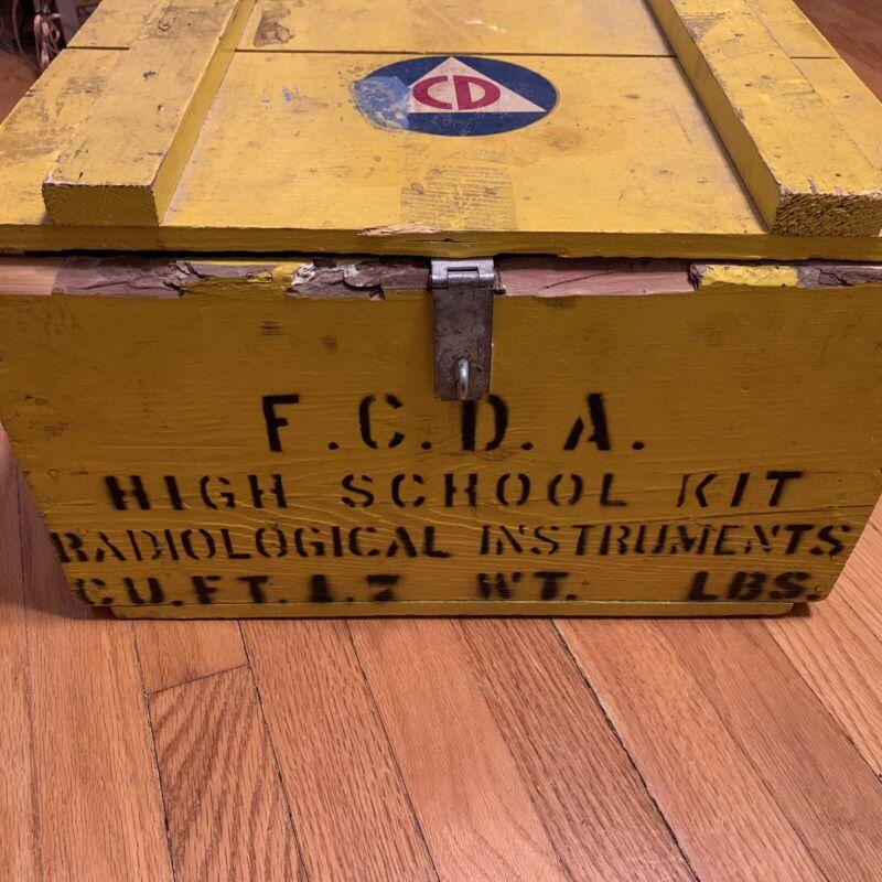 Vintage Civil Defense FCDA High School Radiological Instrument Kit Cold War Era