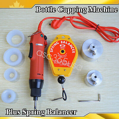 Electric Hand Held Bottle Capping Machine Spring Balancer 4 Silicon Rubber Pad