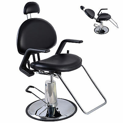 Reclining Hydraulic Barber Chair Salon Beauty Spa Styling Hairdressing Threading