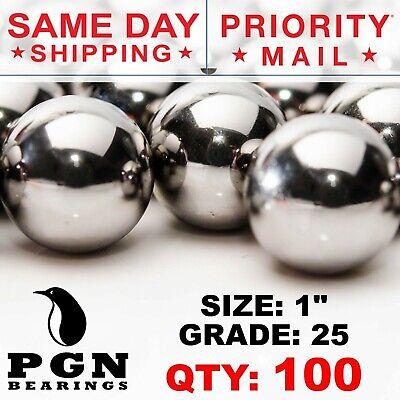 100 Qty - 1 Inch G25 Precision Chrome Steel Bearing Balls Chromium Aisi 52100