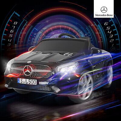 12V Electric Kids Ride On Toy Cars Mercedes Benz SL500 6 Speeds w/ RC Black