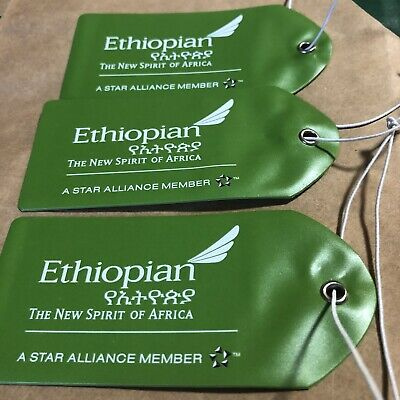 Ethiopian Airlines - Ethiopian Airlines Baggage Luggage Name Tags (3 Tags)
