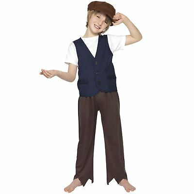 Kids Victorian Poor Peasant Boy Oliver Historical Book Week Fancy Dress Costume - Peasant Boy Costume